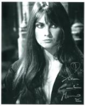 Caroline Munro signed 10 by 8 star of Dracula, Sinbad, Bond #24